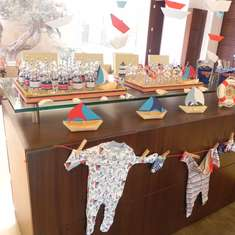 J's Baby Shower...Ahoy Sailor... Baby Abraham is sailing this way - Sailor/nautical