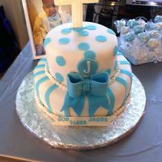 Christening Day - Baby boy blue