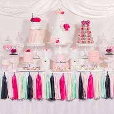 Parisian Dessert Table - Parisian, French, Paris, Pink, Pink and black