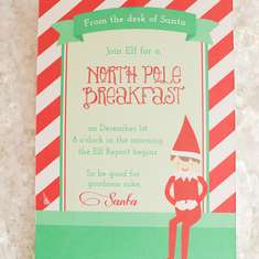 North Pole Breakfast with Santa's Magical Christmas Elf - Elf on the Shelf