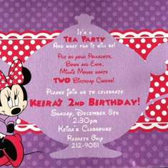 2nd Birthday - Minnie Mouse Tea Party