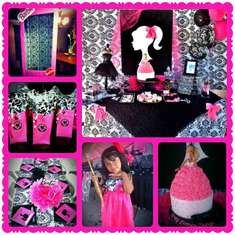 Jazlyn's 6th Birthday Party - Barbie Silhouette (Fashion Runway)
