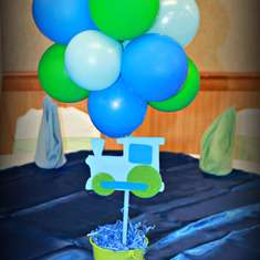 Green and Blue 1st birthday - None
