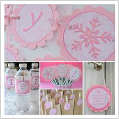 WINTER ONE-DERLAND BIRTHDAY - Winter Wonderland   Snowflake