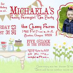 Mia's Fancy Farmgirl Tea Party - Tea Party