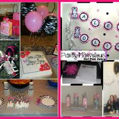 Zebra Baby Shower - Hot pink and Zebra