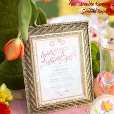 Bridal Shower - Yellow & Coral
