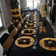 Gallery 50th Birthday Ideas Black And Gold Hollywood Party For A Grown Up Catch