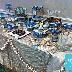 Blissful Beach Wedding Sweets' Table - beach wedding