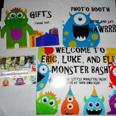 Eric, Luke, and Eli's Monster Party! - Monsters