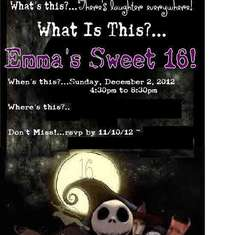 Emma's Nightmare Before Christmas Sweet 16 - Nightmare Before Christmas