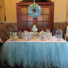 Andrea's Baby Shower - Blue and Green