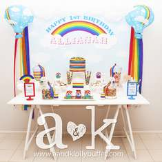 Allianah's 1st Birthday Rainbow Dessert Buffet - Rainbow