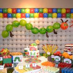 Giovanna's 1st birthday - The Very Hungry Caterpillar
