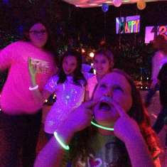 Kenzie's 13th Birthday - glow in the dark
