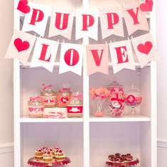 Puppy Love Valentines party - Puppy Dog