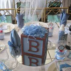 Diana's Baby Shower - Blue, Brown and Blocks