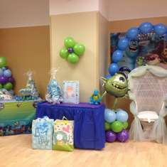 Shaquera & Paul's shower - monsters inc