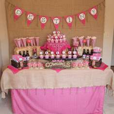 Destiny's Pink Cowgirl Party Dessert Buffet - Pink cowgirl