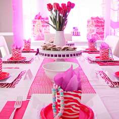 Glamorus Barbie Party - Pink Zebra Barbie