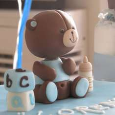 Baby shower of Lorenzo  - Blue and brown teddy bears