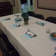 Baby Boy Shower - Blue and Brown