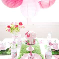 Pink Pixie Party - pink, butterflies