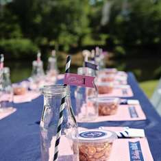 Pink and Navy Preppy Nautical Party - Nautical