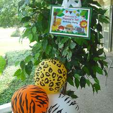 Wild Animal Safari 1st Birthday Party - Jungle Safari