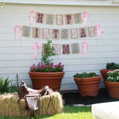 Western Cowgirl 3rd Birthday Party - Cowgirl