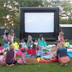 Caroline's Outdoor Movie Pajama Party - Outdoor Movie / Pajama