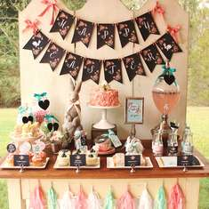 Floral Chalkboard Easter Dessert Table - Rustic easter