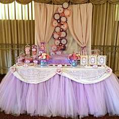 Kay's Baptism - Pink and Purple