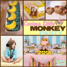 Curious Emma's Monkey Party - monkey girl