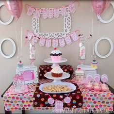 Cupcake Inspired Dessert Table - Our Little Cupcake