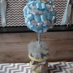Jaime's Baby Shower - Grey Chevron