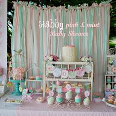 It's a girl thing! - Shabby Pink and Mint Baby Shower