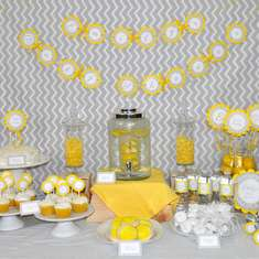 Yellow and Gray Geometric Baby Shower - Modern