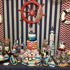 Isaac's First Birthday - Nautical