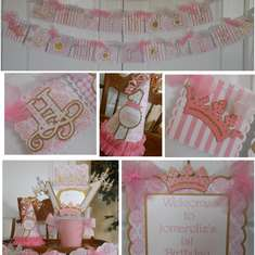 Girls 1st Birthday Party - Princess Pink and Gold