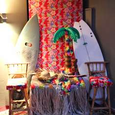 Lanterns and Hula Skirts for a 18th Birthday Party - Hawaiian Luau