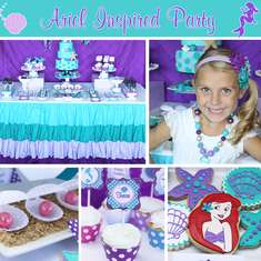 Tessa's Ariel Inspired Little Mermaid Party - Little Mermaid