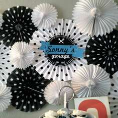 Vintage Car and Garage Birthday Party - Vintage Transportation