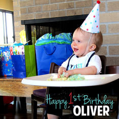 Oliver's Race Car Party - 1st Birthday