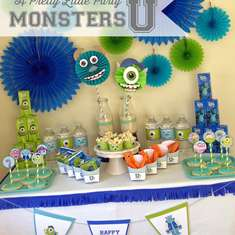 Monsters U {inspired} Birthday Party - None