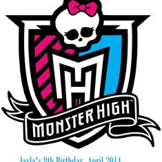 J's Ghoulish party - Monster High