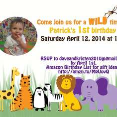 Patrick's Wild 1st Birthday Party - Zoo