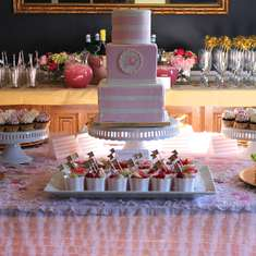 Becca's Pink and Gold Baby Shower - pink and gold