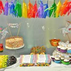 Leia's 7th Birthday Party - Rainbow