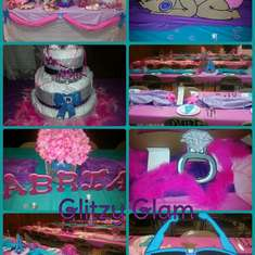 Glitzy Glam Girl Baby shower - Baby Girl Shower